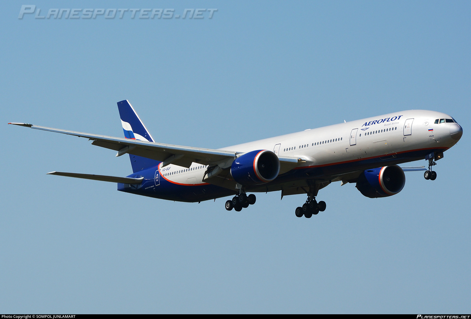 VQ-BQF Aeroflot - Russian Airlines Boeing 777-3M0(ER) photographed at Bangkok Suvarnabhumi (BKK / VTBS) by SOMPOL JUNLAMART