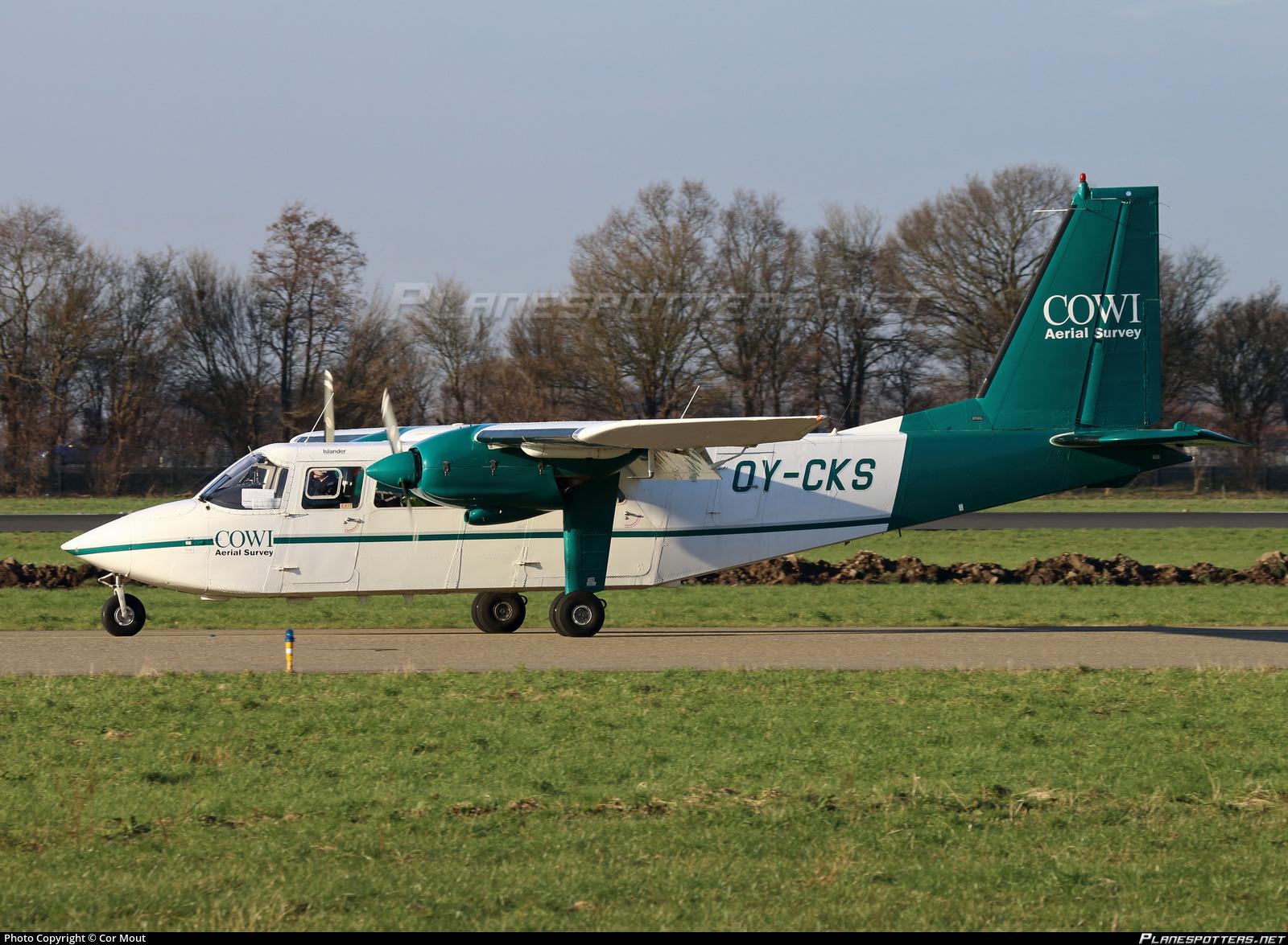 OY-CKS Cowi Aerial Survey Britten-Norman BN-2A-21 Islander Photo by
