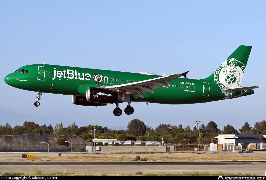 N595JB JetBlue Airways Airbus A320-232 photographed at Long Beach Daugherty Field (LGB / KLGB) by Michael J Carter