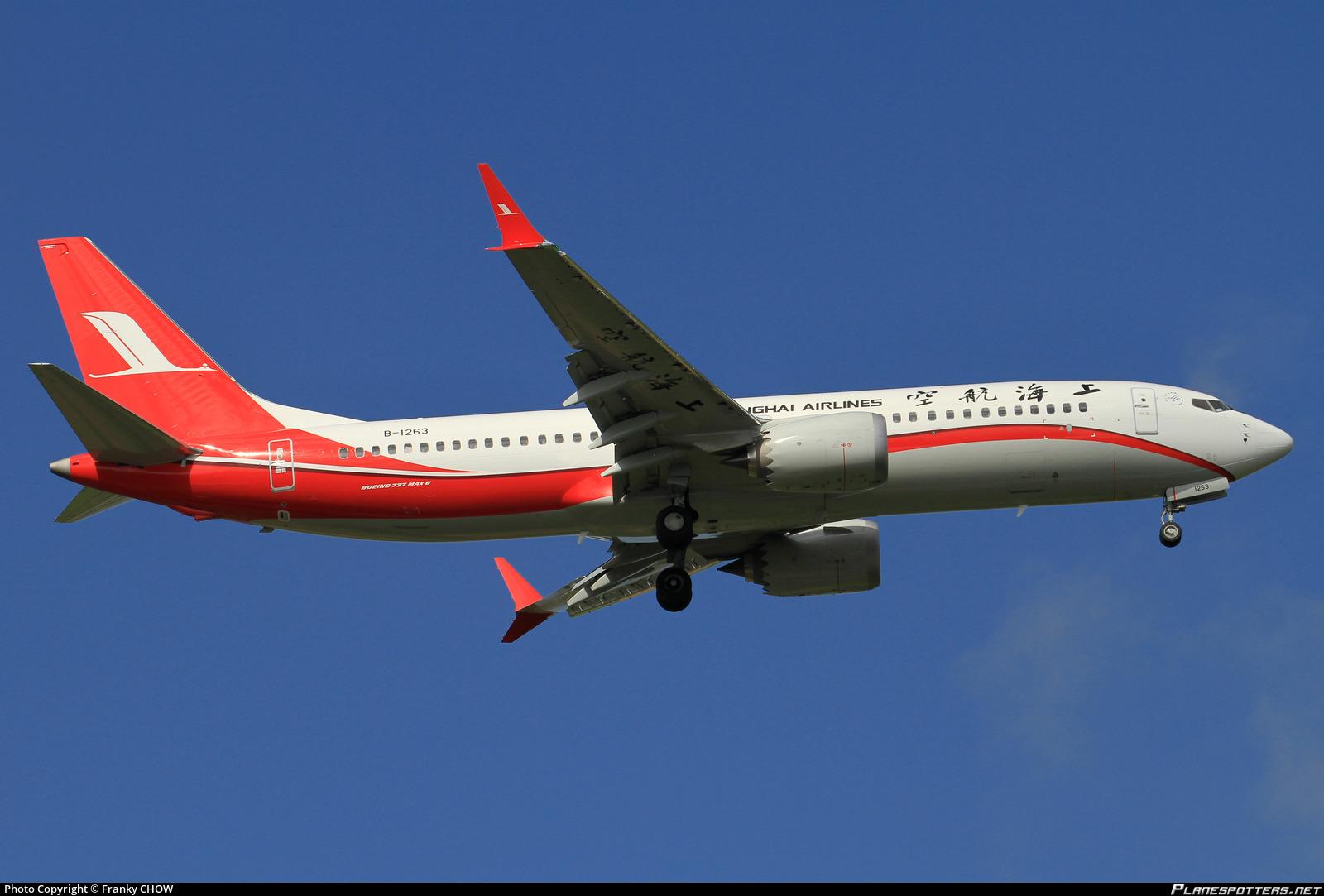 B-1263 Shanghai Airlines Boeing 737-8 MAX