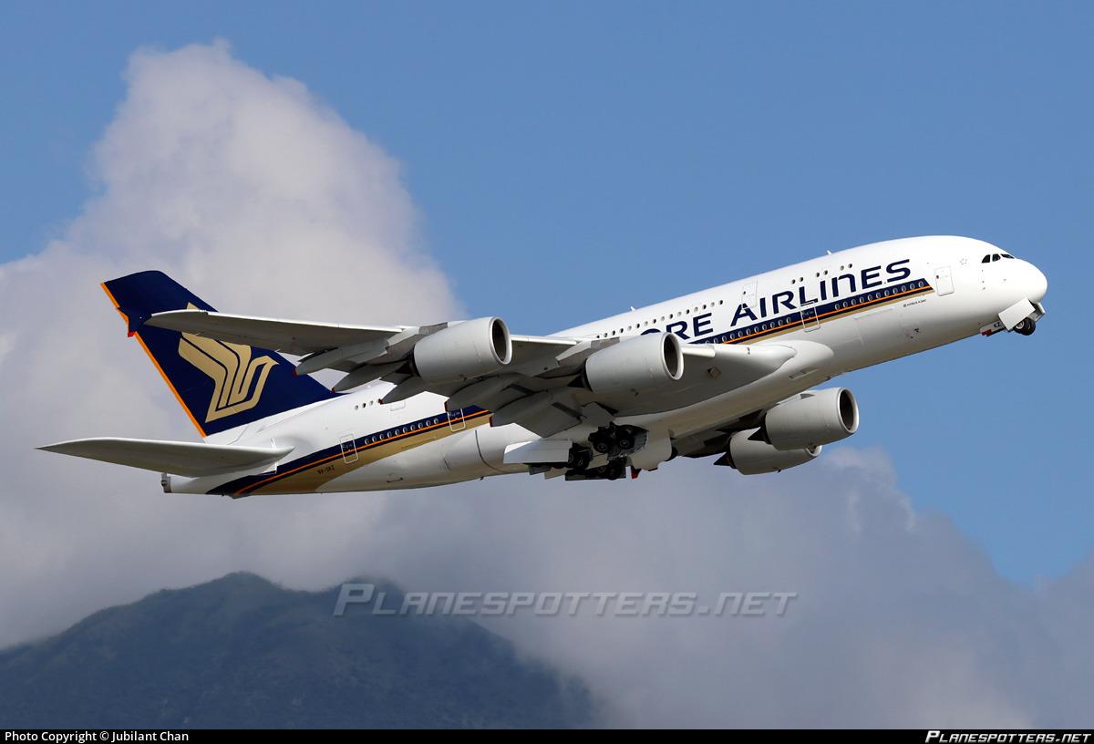 9V-SKZ Singapore Airlines Airbus A380-841 photographed at Hong Kong Chek Lap Kok International (HKG / VHHH) by Jubilant Chan