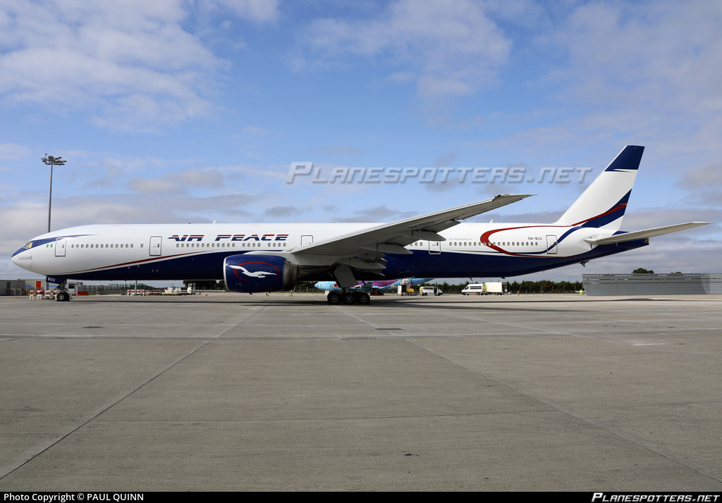 5N-BUU Air Peace Boeing 777-31H photographed at Dublin Collinstown (DUB / EIDW) by PAUL QUINN