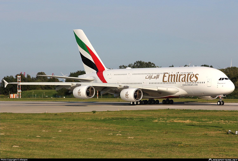 F-WWSE Emirates Airbus A380-842 photographed at Hamburg Finkenwerder (XFW / EDHI) by xfwspot