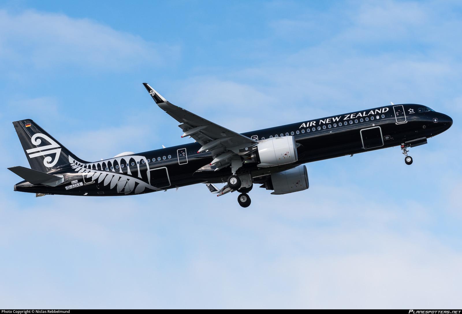 D-AZAX Air New Zealand Airbus A321-271NX photographed at Hamburg Finkenwerder (XFW / EDHI) by Niclas Rebbelmund