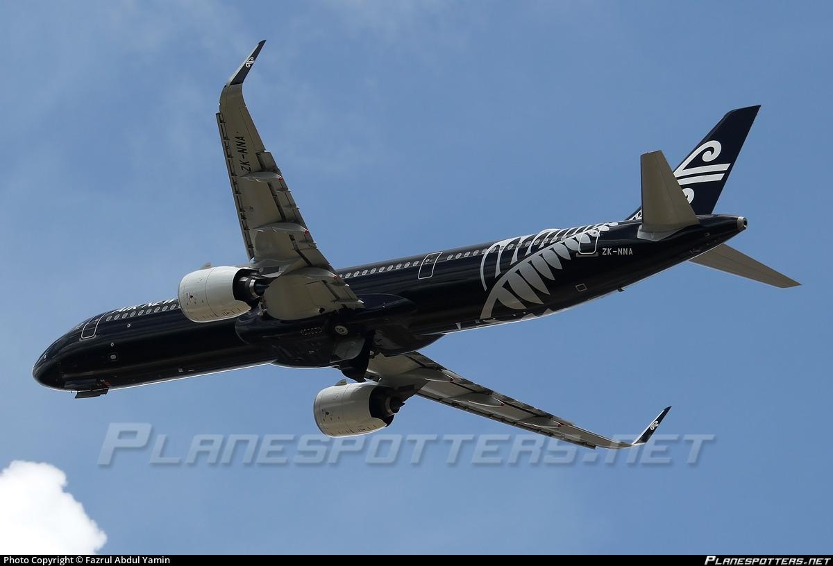 ZK-NNA Air New Zealand Airbus A321-271NX photographed at Kuala Lumpur International (KUL / WMKK) by Fazrul Abdul Yamin
