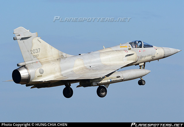 2037 Taiwan Air Force Dassault Mirage 2000-5EI Photo by HUNG