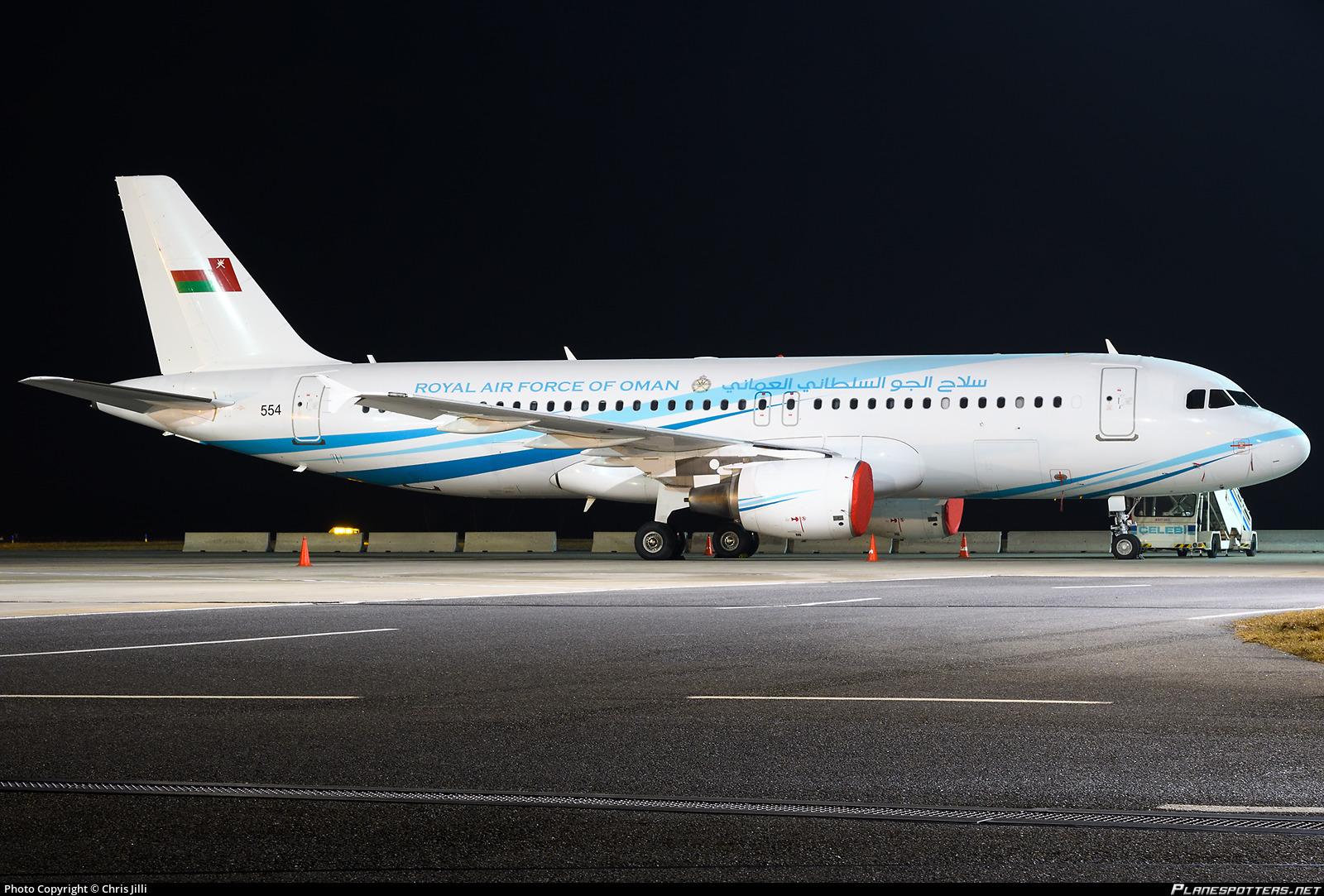 554 Royal Air Force of Oman (RAFO) Airbus A320-214(CJ) Prestige ... 7c51e4d624e3