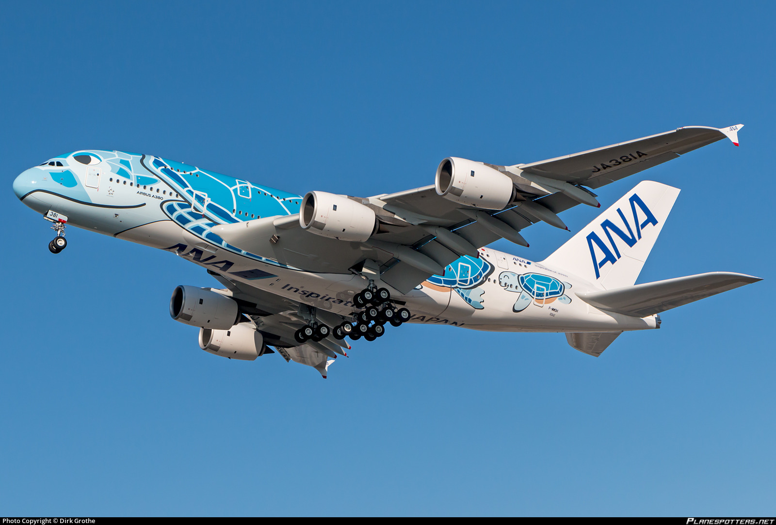 F-WWSH All Nippon Airways Airbus A380-841 photographed at Hamburg Finkenwerder (XFW / EDHI) by Dirk Grothe