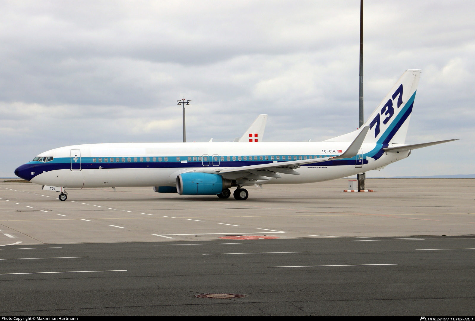 TC-COE Corendon Airlines Boeing 737-86J(WL) photographed at Erfurt (ERF / EDDE) by Maximilian Hartmann