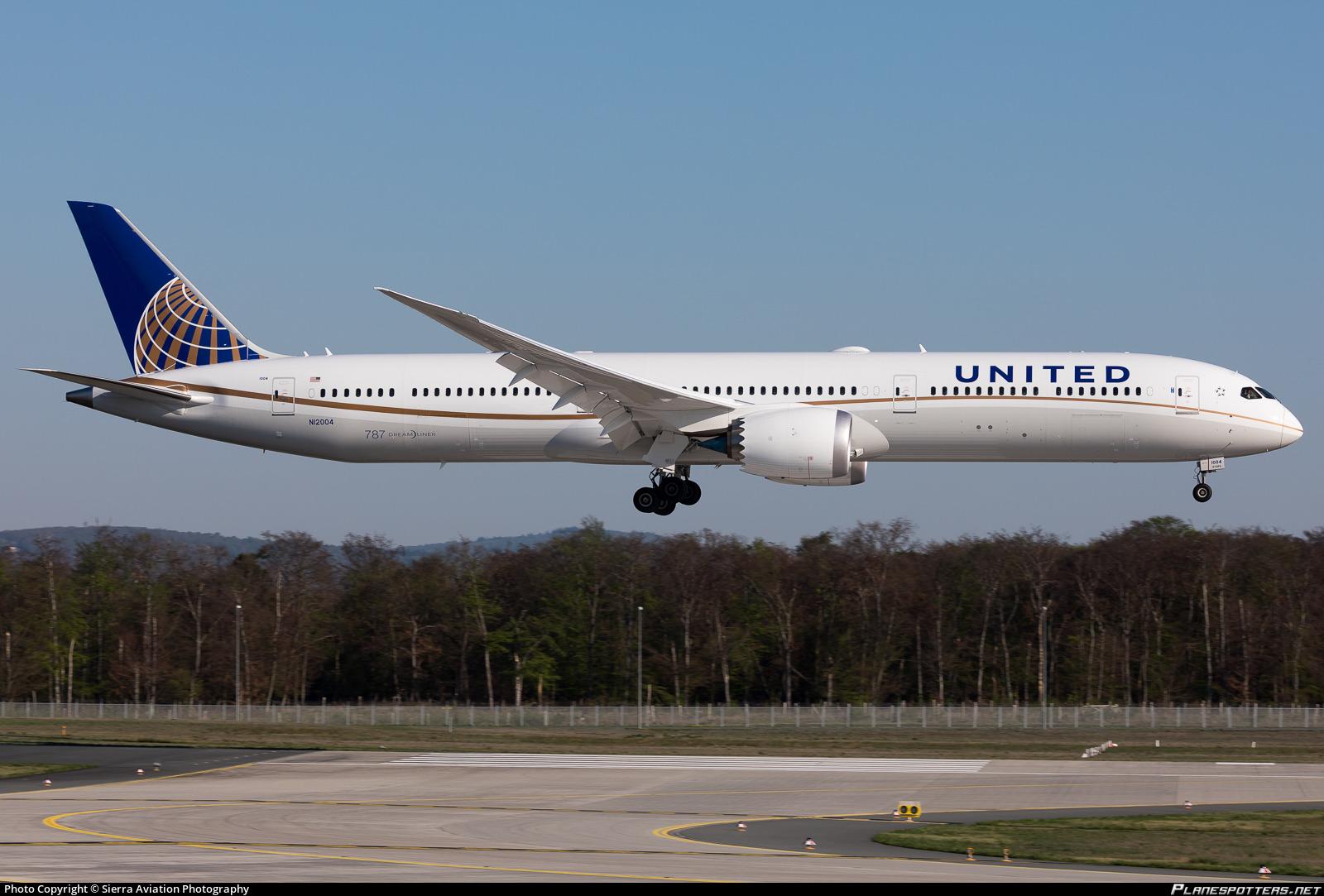 787 10 Dreamliner >> N12004 United Airlines Boeing 787 10 Dreamliner Photo By Sierra
