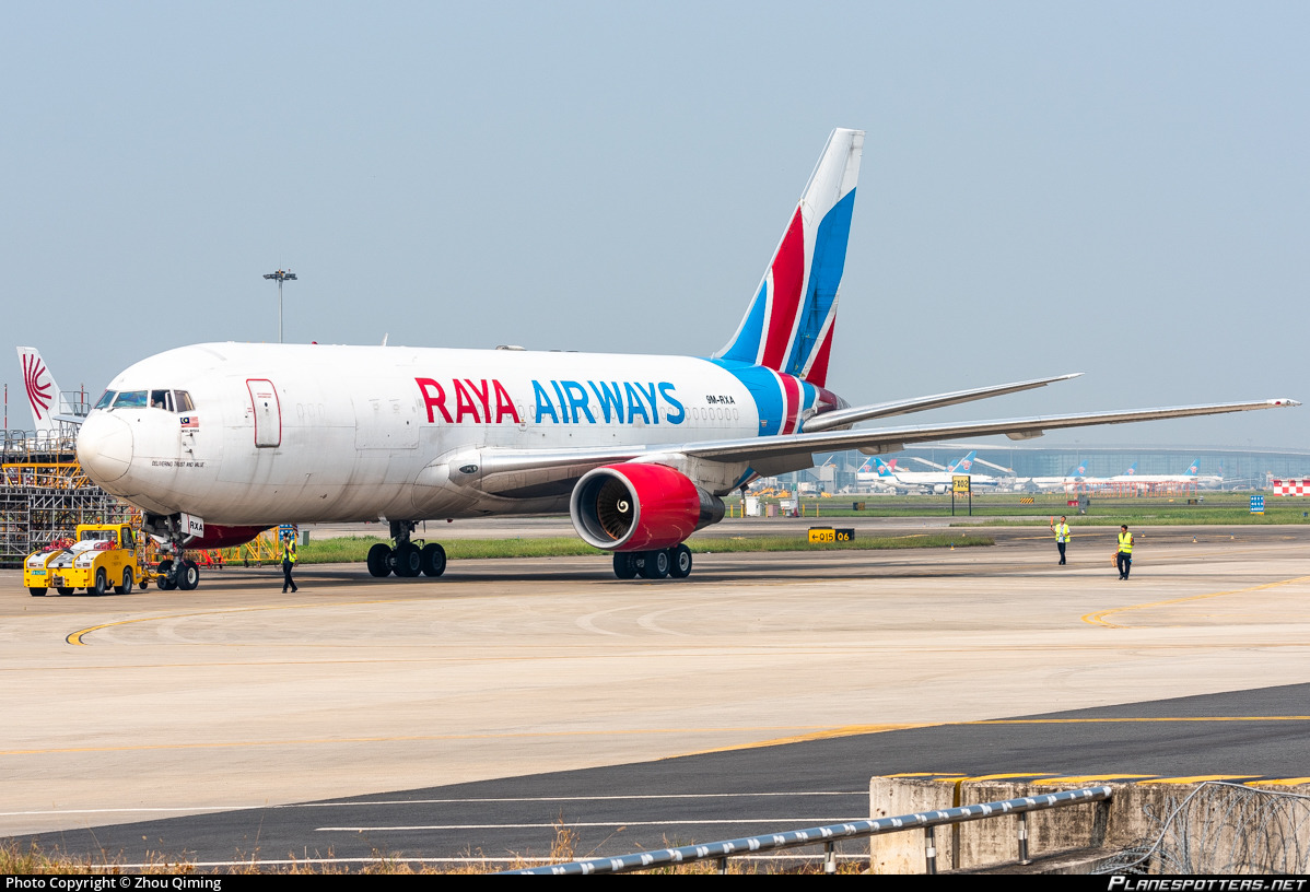 9M-RXA Raya Airways Boeing 767-223(BDSF) Photo by Zhou